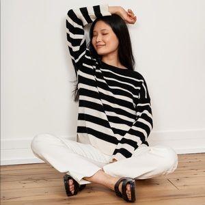 NWT La Ligne Charlotte Cashmere Striped Sweater